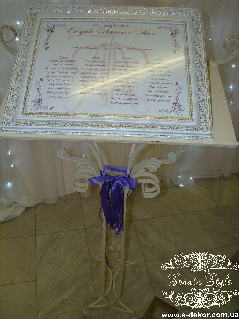 схема рассадки гостей на свадьбе сделать